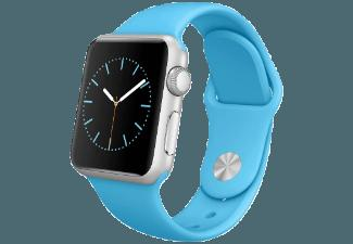 APPLE Watch 38 mm Aluminium mit Sportband (ML2CGFD/A) Blau (Smart Watch)
