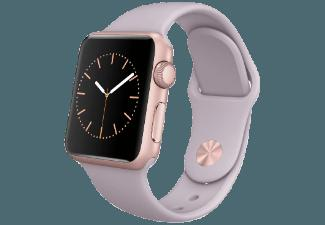 APPLE Watch 38 mm Aluminium mit Sportband (MLCH2FD/A) Rosegold/Lavender (Smart Watch)