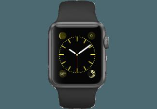 APPLE Watch 38mm Aluminiumgehäuse mit Sportband (MJ2X2FD/A) Grau/Schwarz (Smart Watch)