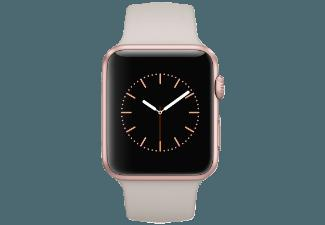 APPLE Watch 42 mm Aluminiumgehäuse mit Sportarmband (MLC62FD/A) Rose Gold/Stone (Smart Watch)