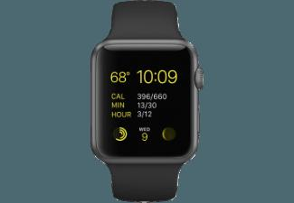 APPLE Watch Sport 42mm Aluminiumgehäuse mit Sportband (MJ3T2FD/A) Grau/Schwarz (Smart Watch)